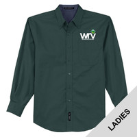 L608 - W114 - EMB - Western Region Venturing Ladies Long Sleeve Easy Care Shirt